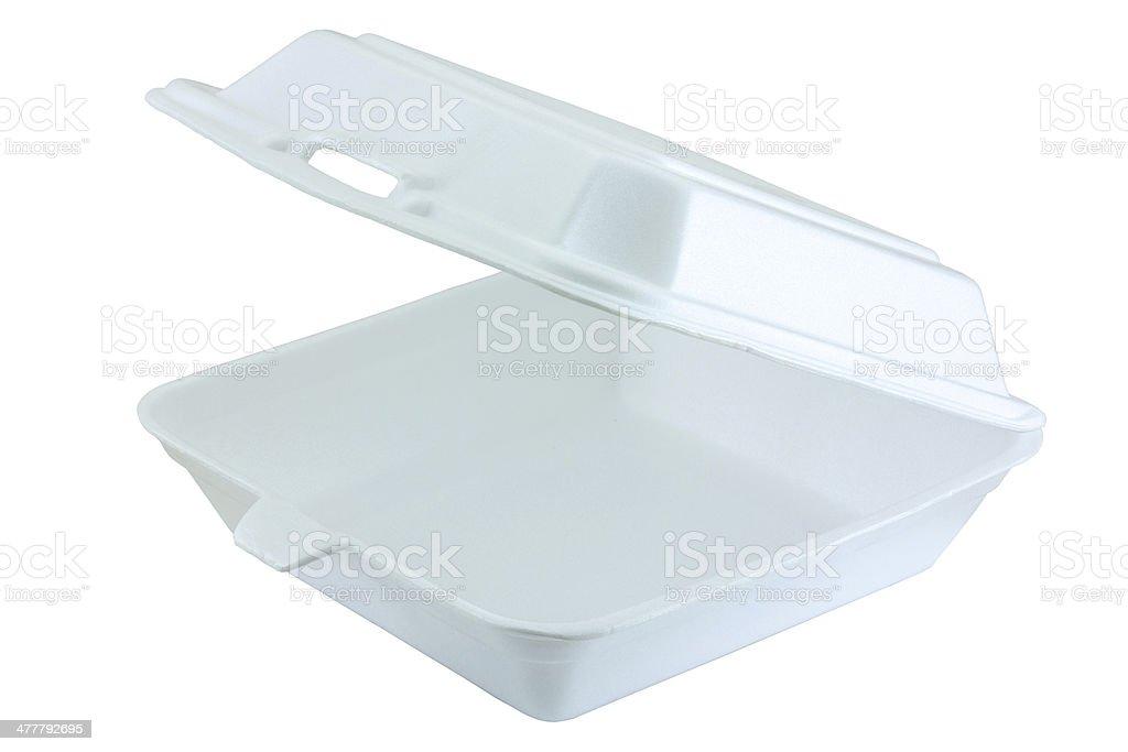 white foam box stock photo