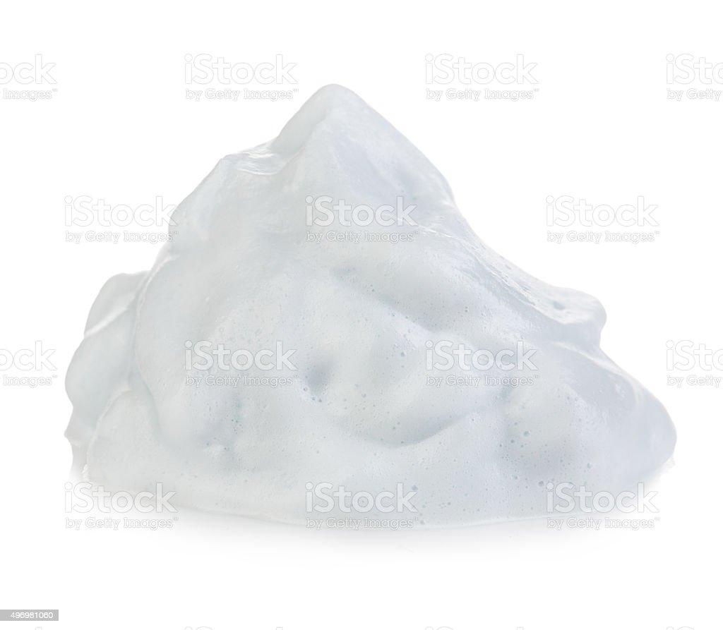 White foam cream mousse soap lotion isolated, stock photo