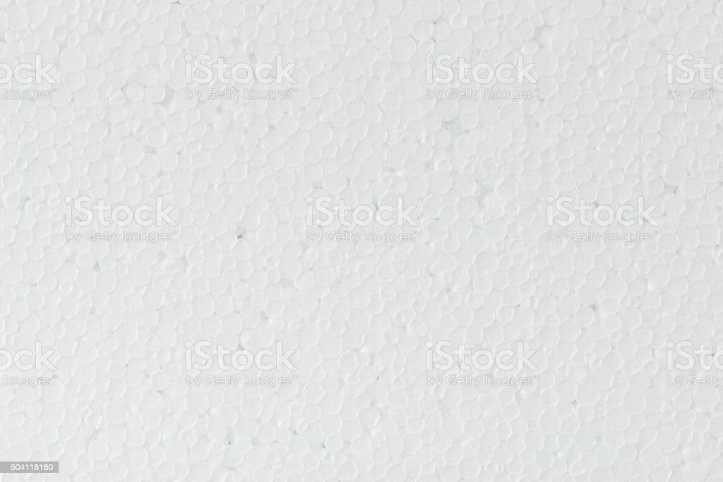 white foamed polystyrene sheet surface stock photo