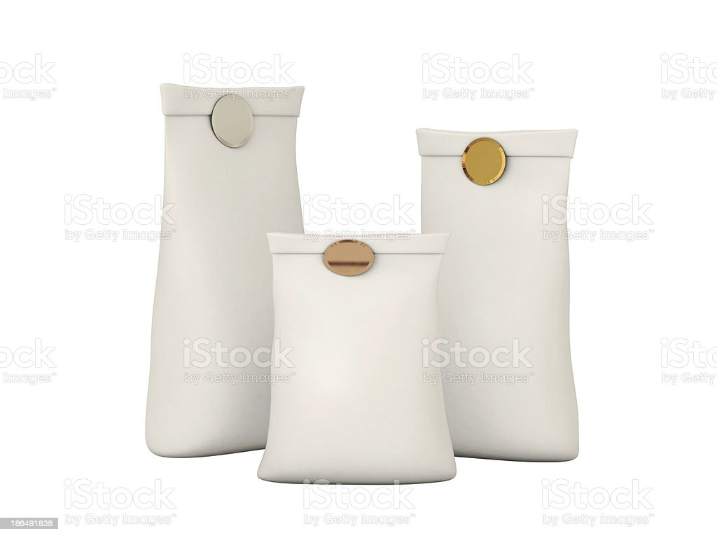 White folded Paper Bag Package For Your product royalty-free stock photo