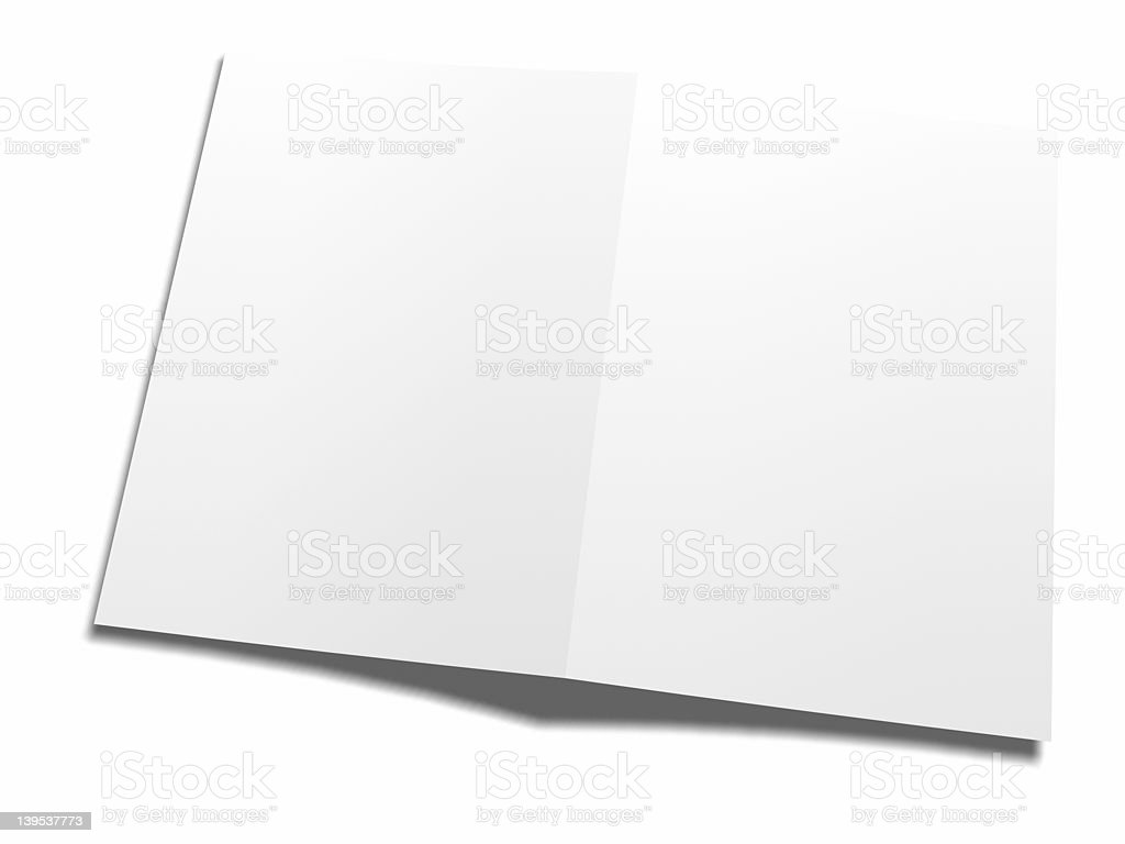 white folder - fill it! stock photo