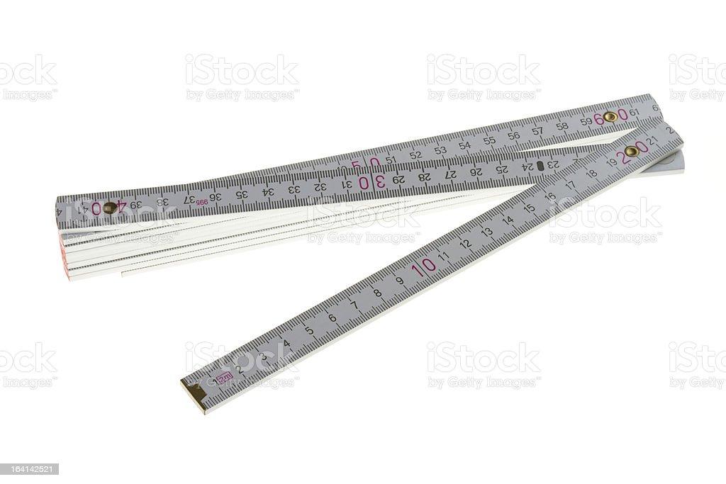 white folding ruler stock photo