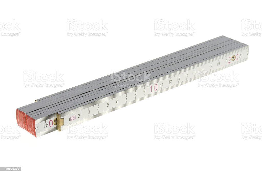 white folding ruler royalty-free stock photo