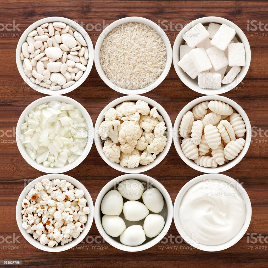 White foods stock photo
