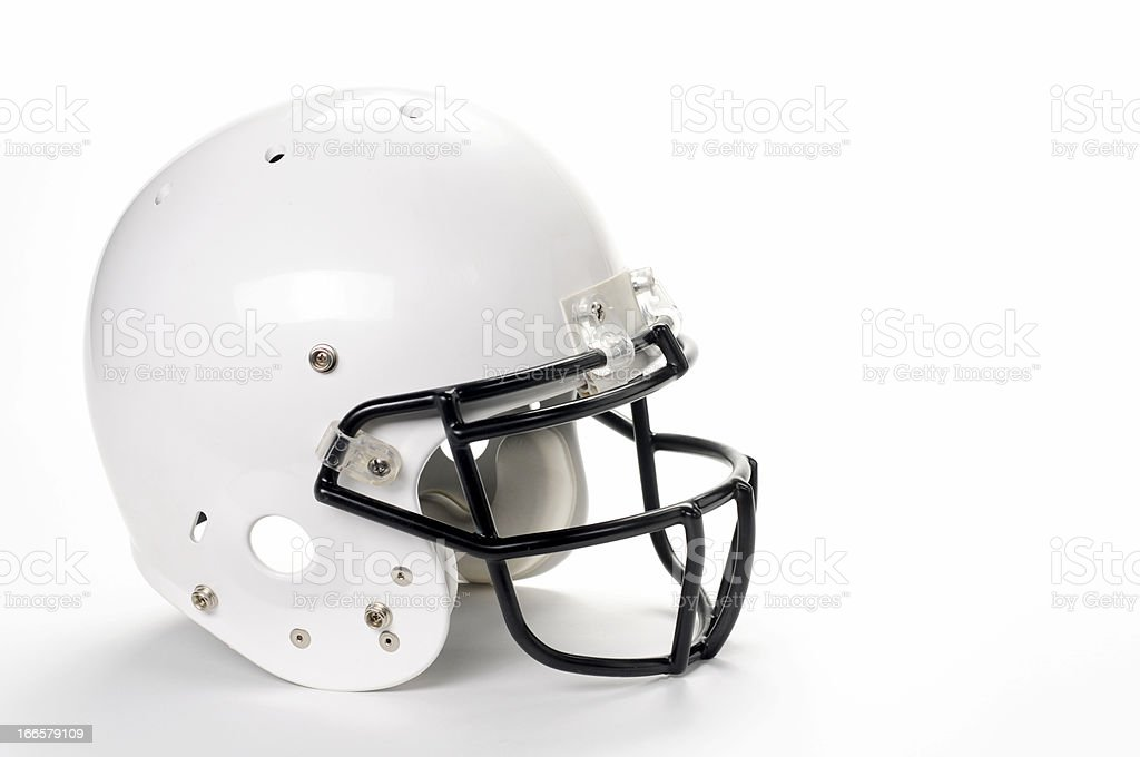 White Football Helmet stock photo