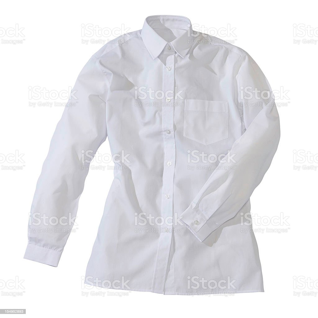 White formal female shirt royalty-free stock photo
