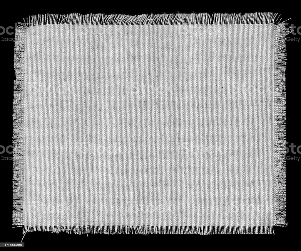 white frayed cotton swatch stock photo