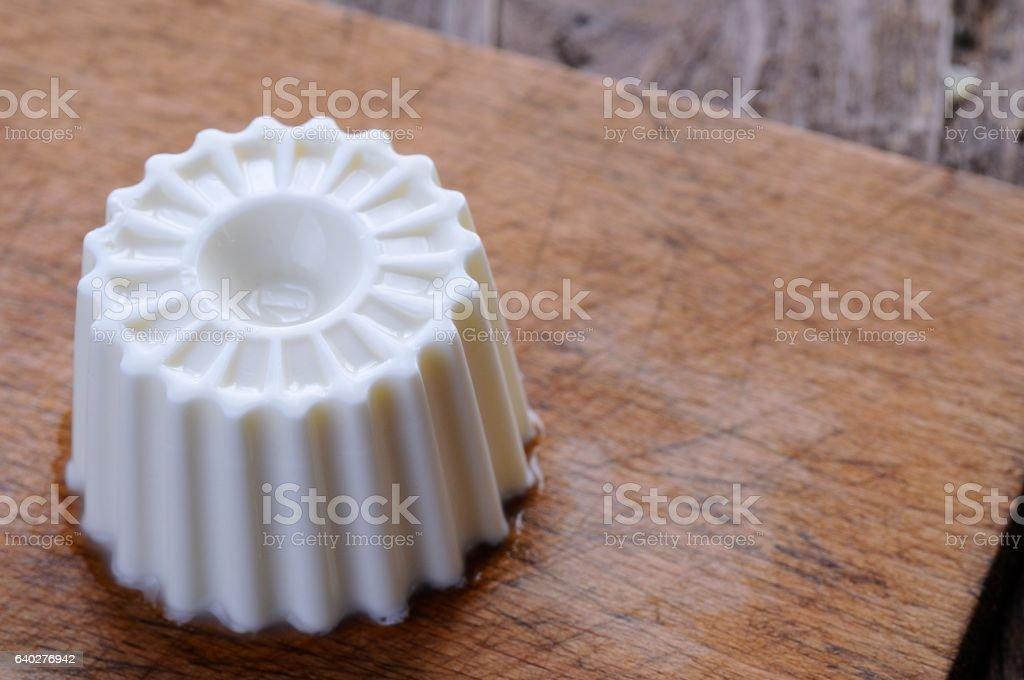 White fresh cheese stock photo