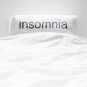 White fresh linen , insomnia sign on pillow