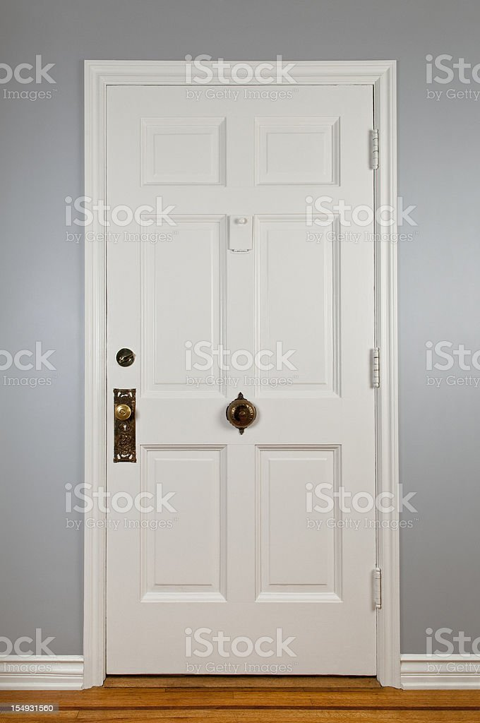 White Front Door royalty-free stock photo