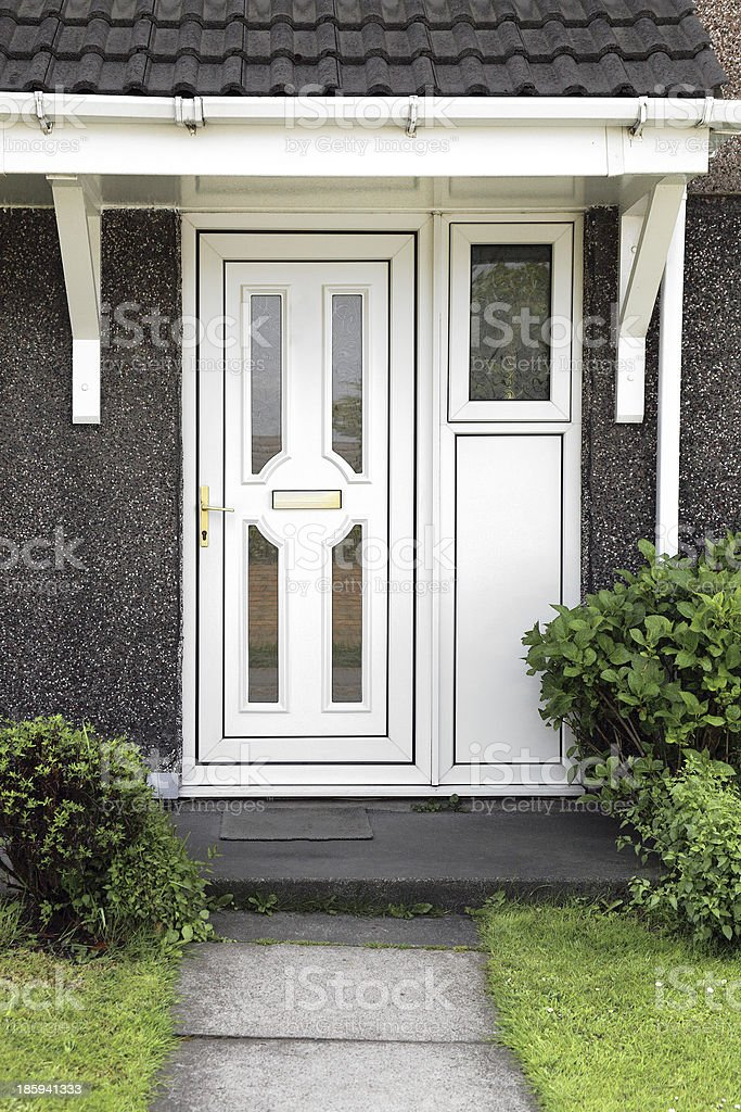 White front door royalty-free stock photo