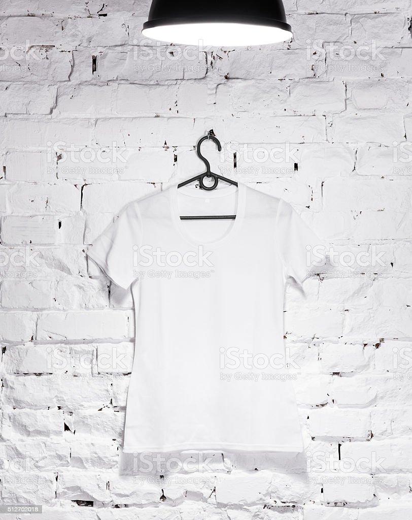 white front t-shirt stock photo