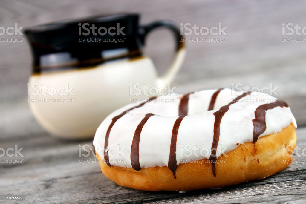 White frosted donut royalty-free stock photo