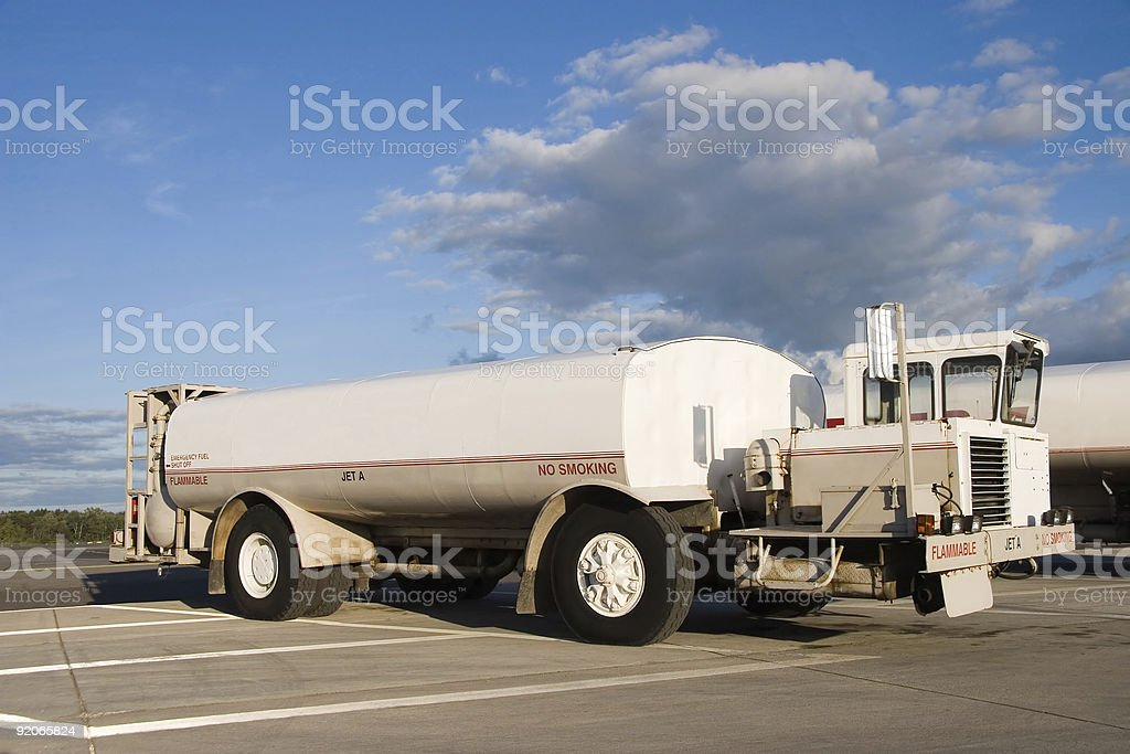 White Fuel Truck royalty-free stock photo