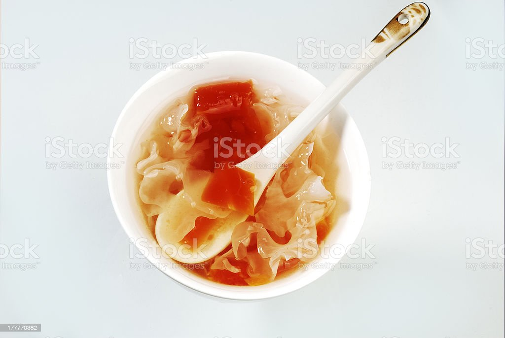 White fungus thick soup royalty-free stock photo