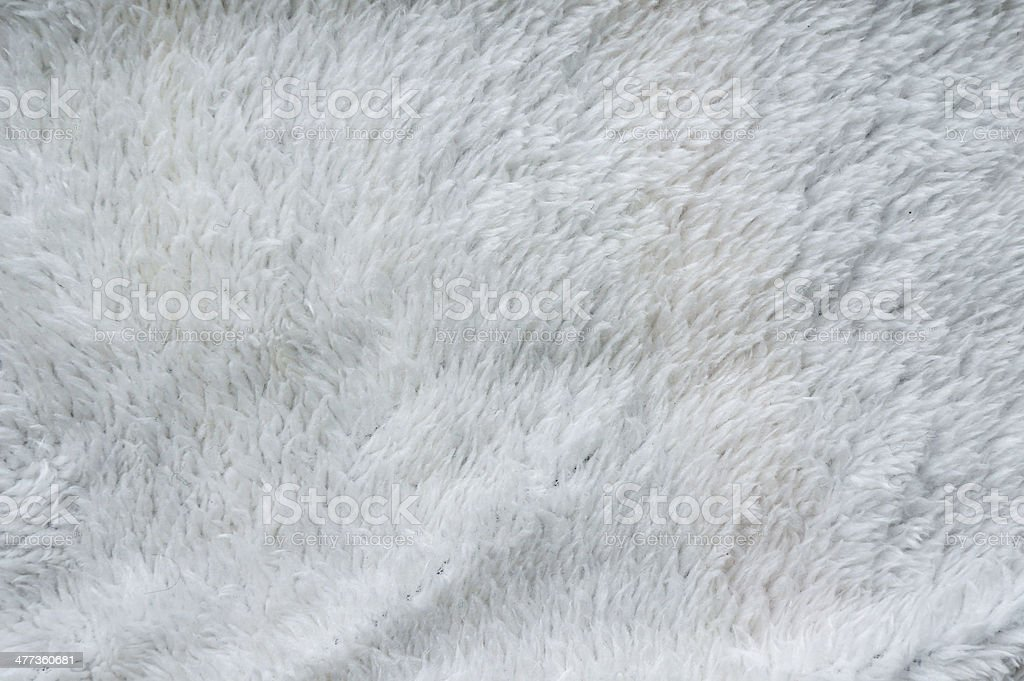 White fur background. Close up stock photo