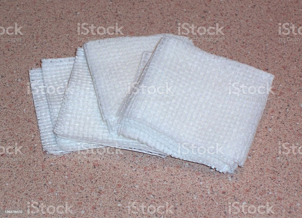 White Gauze stock photo