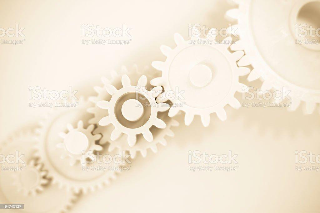 White Gears Macro stock photo
