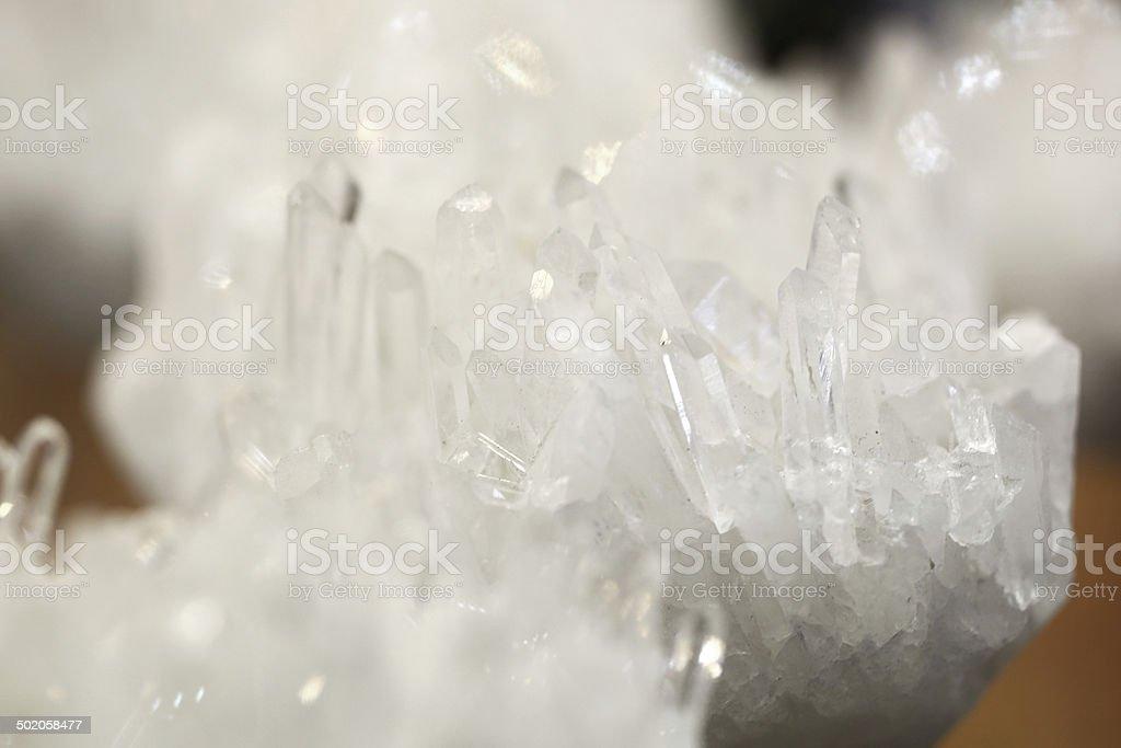 White gemstone crystal stock photo