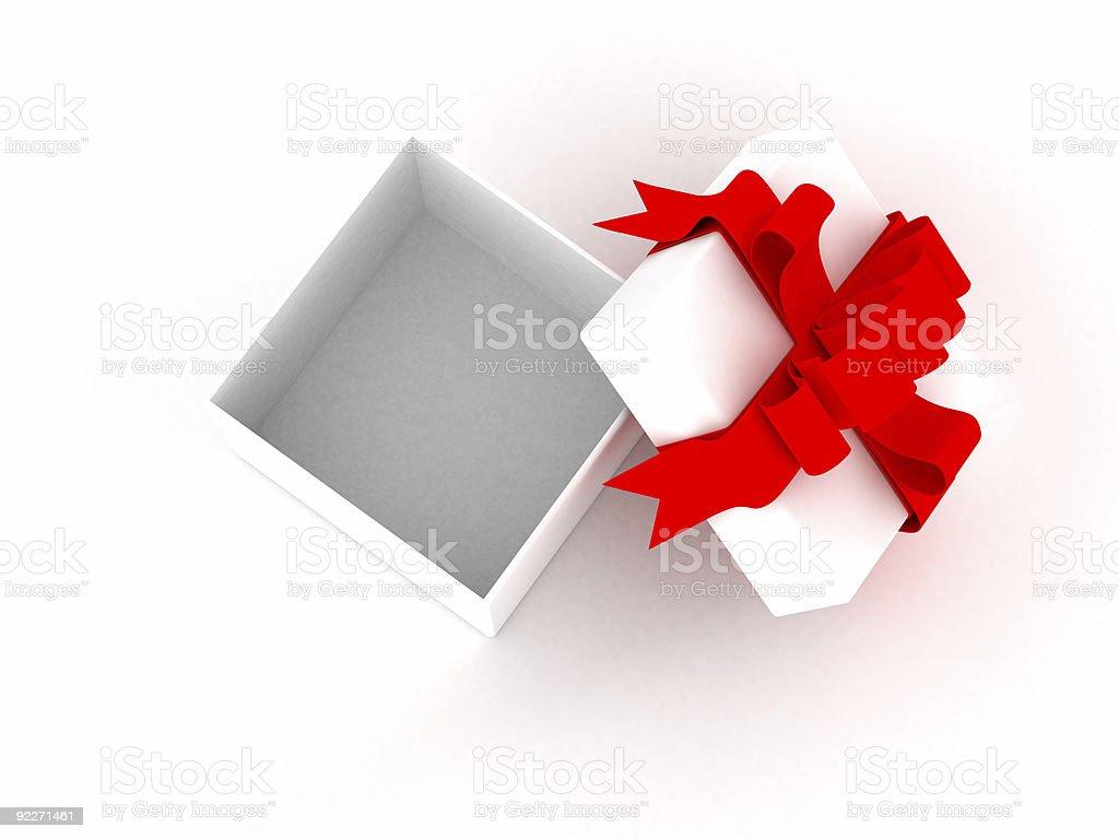 White gift box. 3D image. royalty-free stock photo