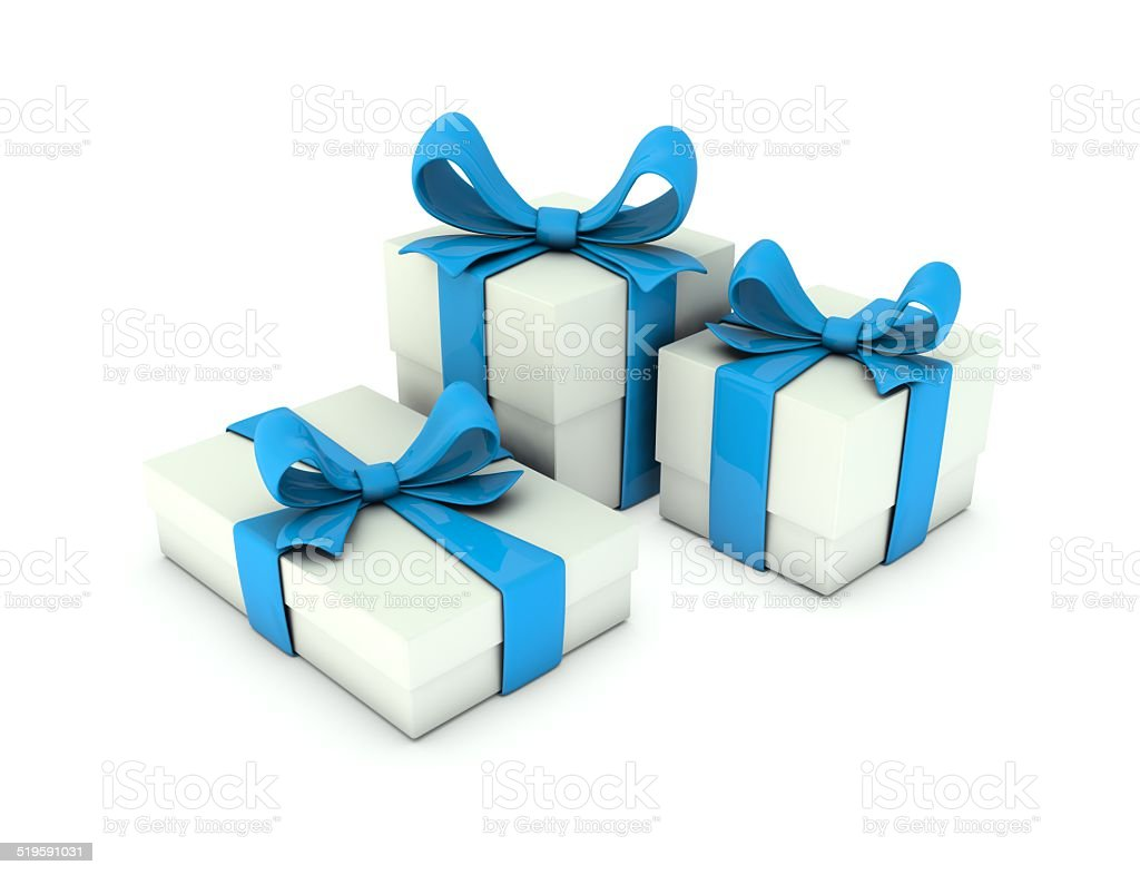 White gift box. royalty-free stock photo