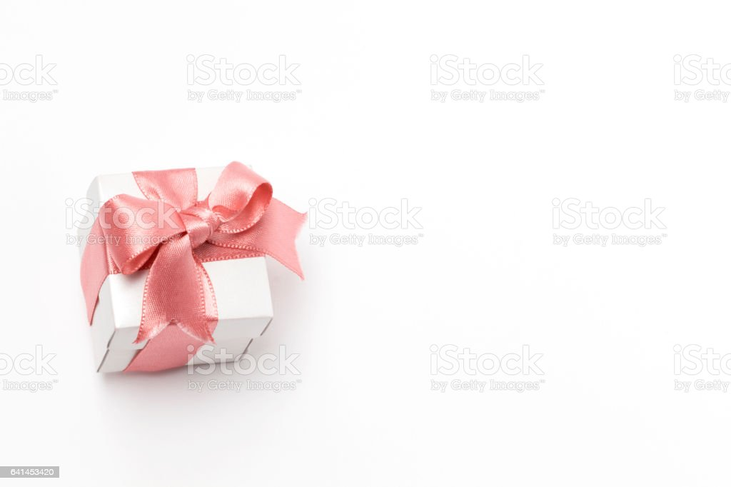 White Gift Box stock photo