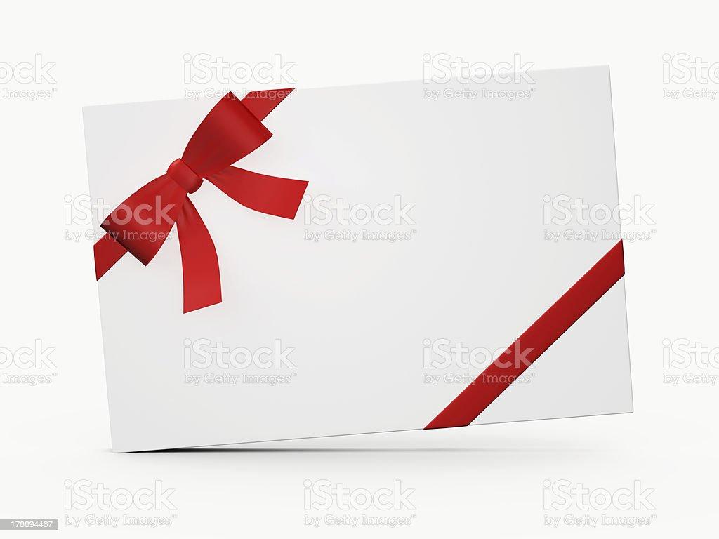 White Gift Card royalty-free stock photo