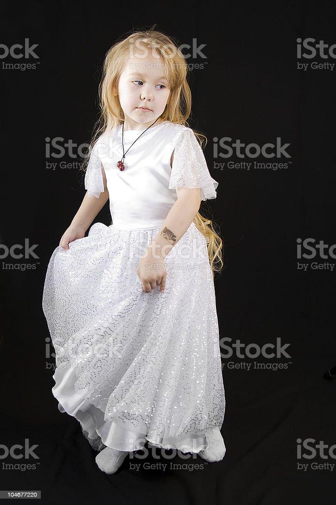 White  girl Princess. royalty-free stock photo