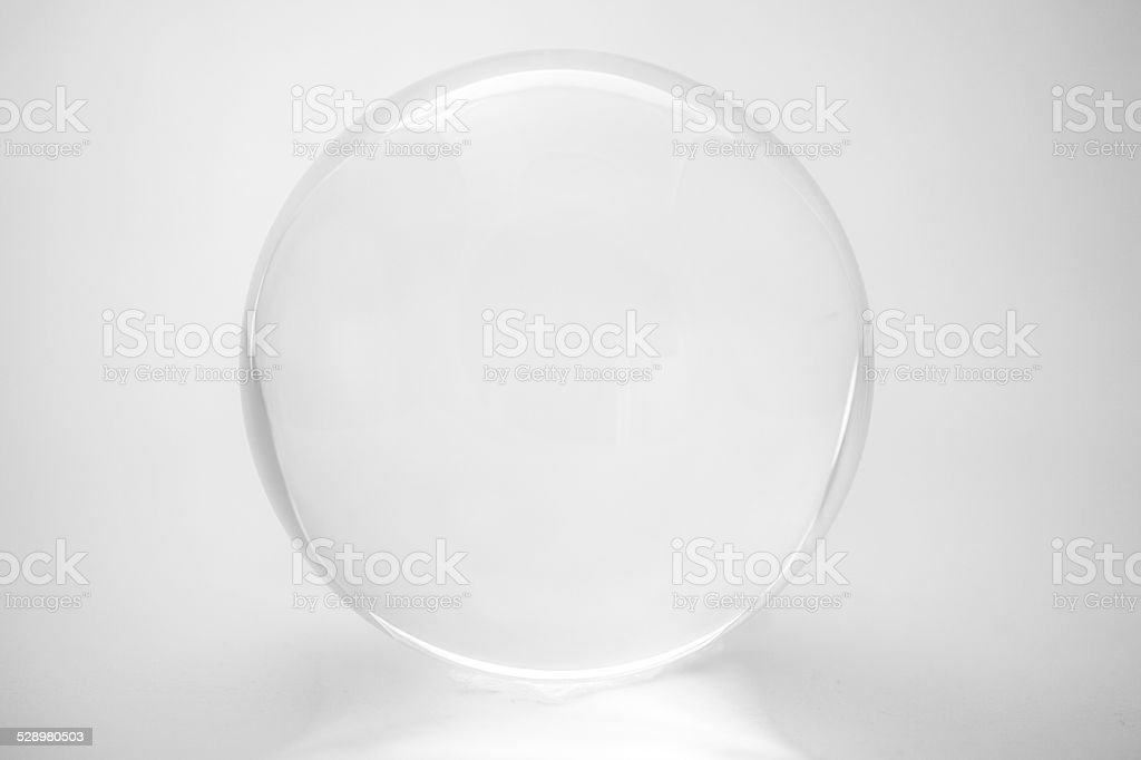 white glass on white stock photo