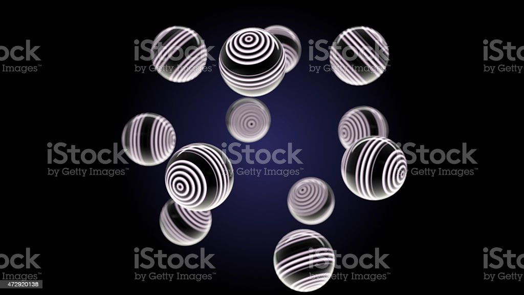 White glass spheres stock photo