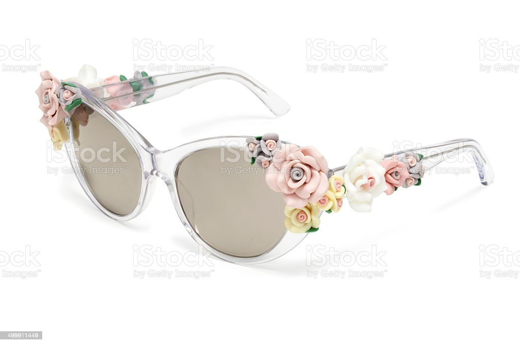 White glasses stock photo