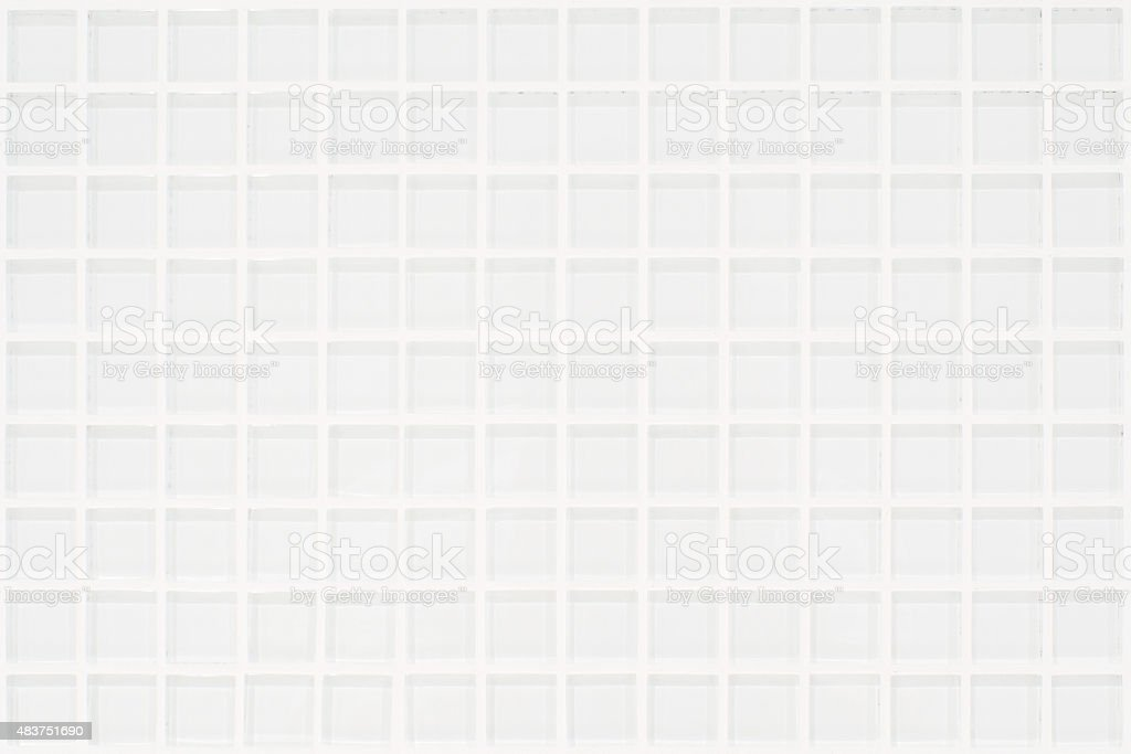 White glassy tile with squares stock photo