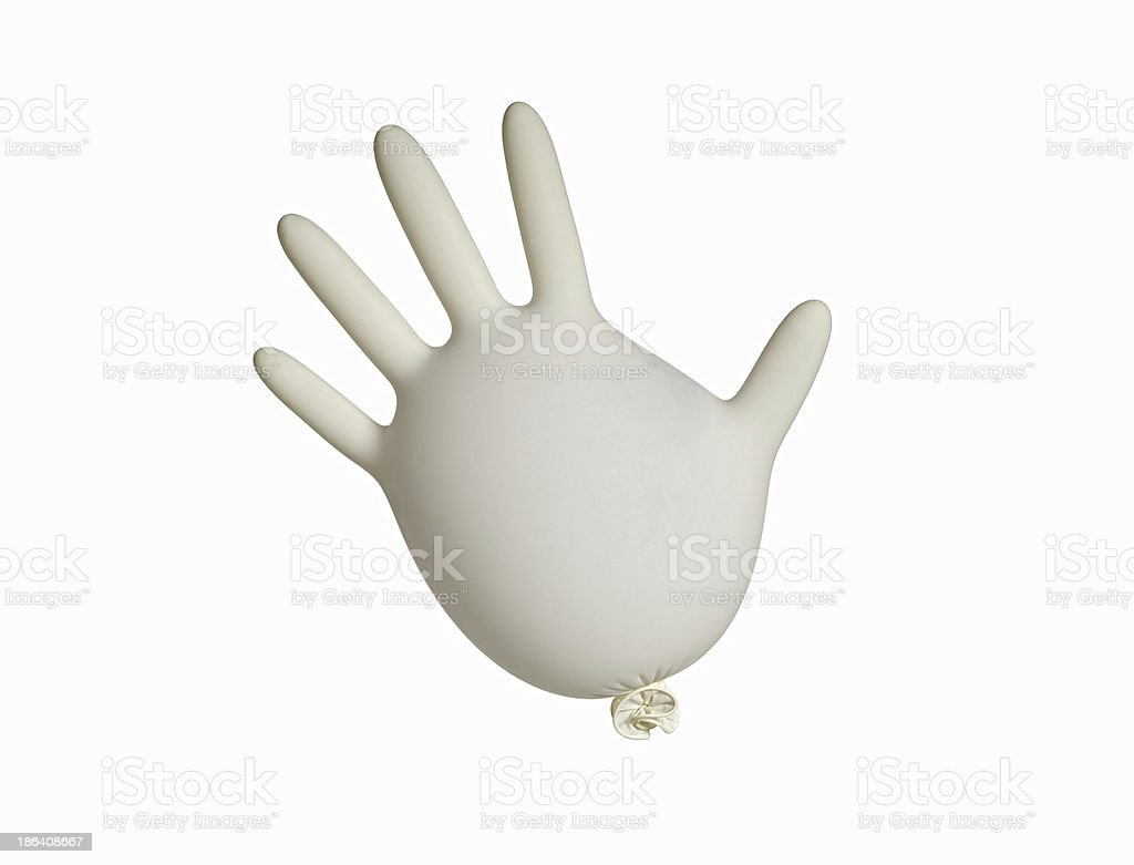 white glove stock photo