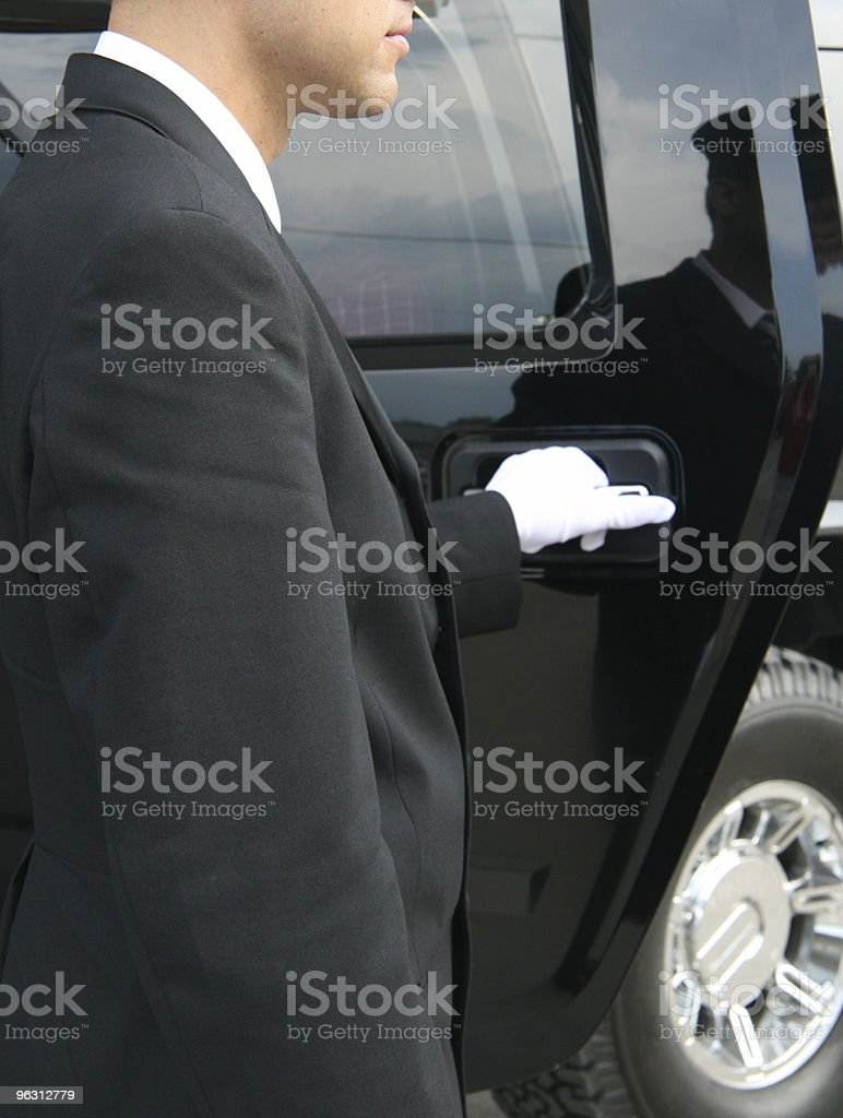 White Glove Service royalty-free stock photo