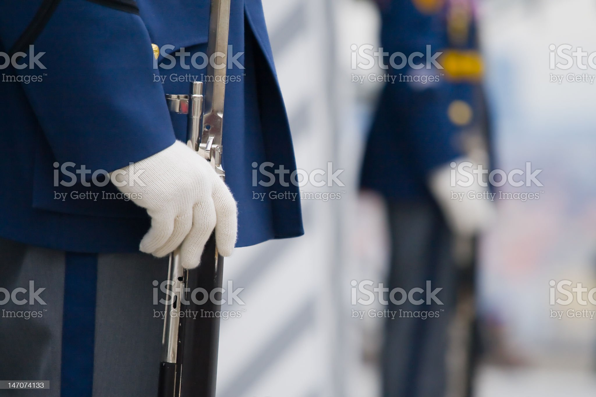 White Gloves royalty-free stock photo