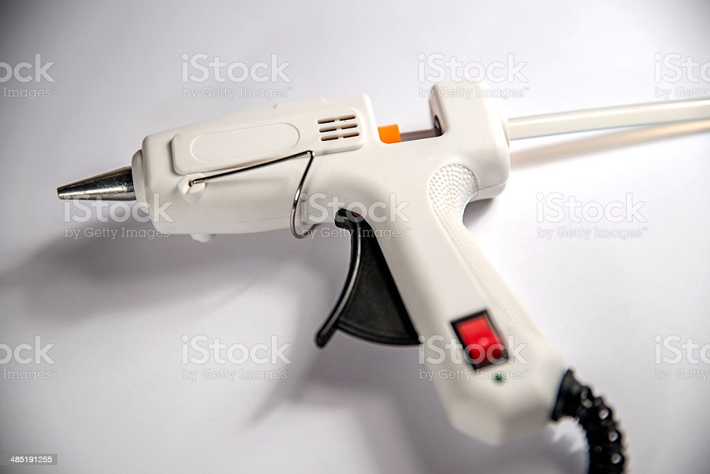 white glue gun royalty-free stock photo