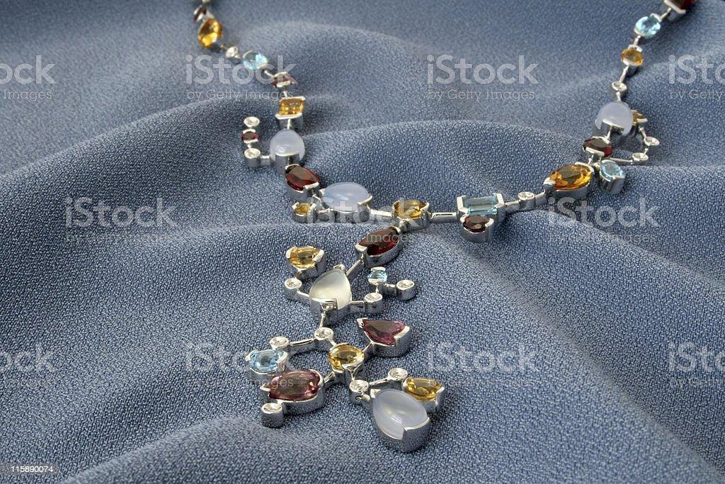 White gold neckless stock photo