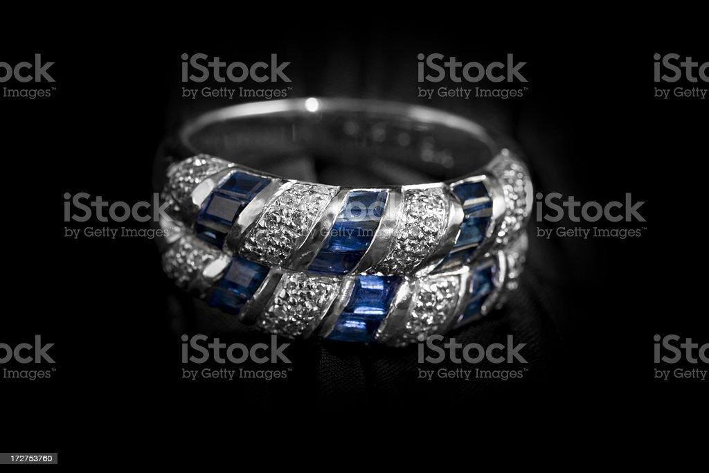 White Gold Ring royalty-free stock photo