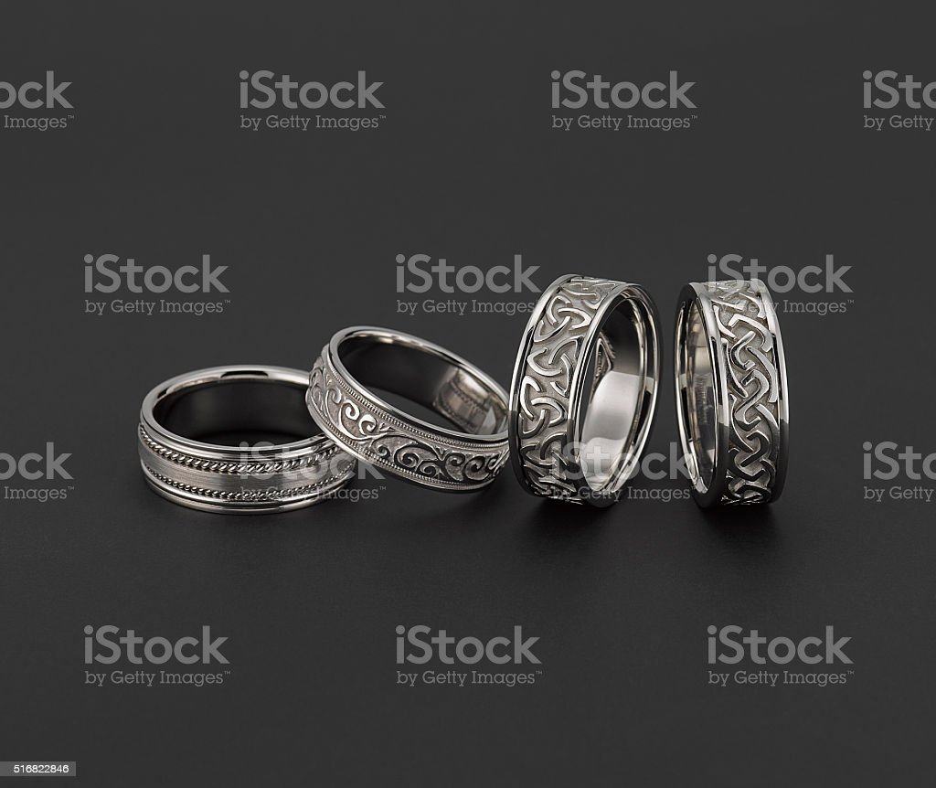 White Gold Wedding Rings stock photo