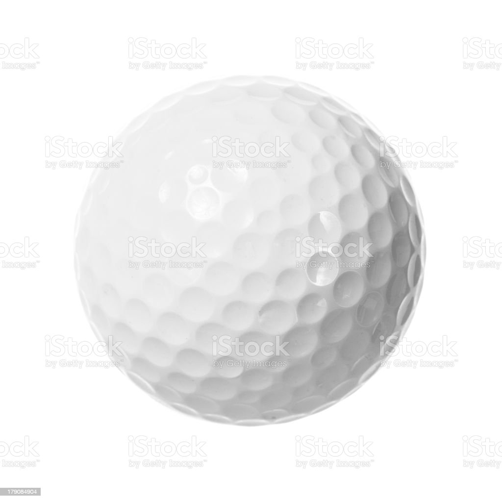 White golf ball isolated royalty-free stock photo