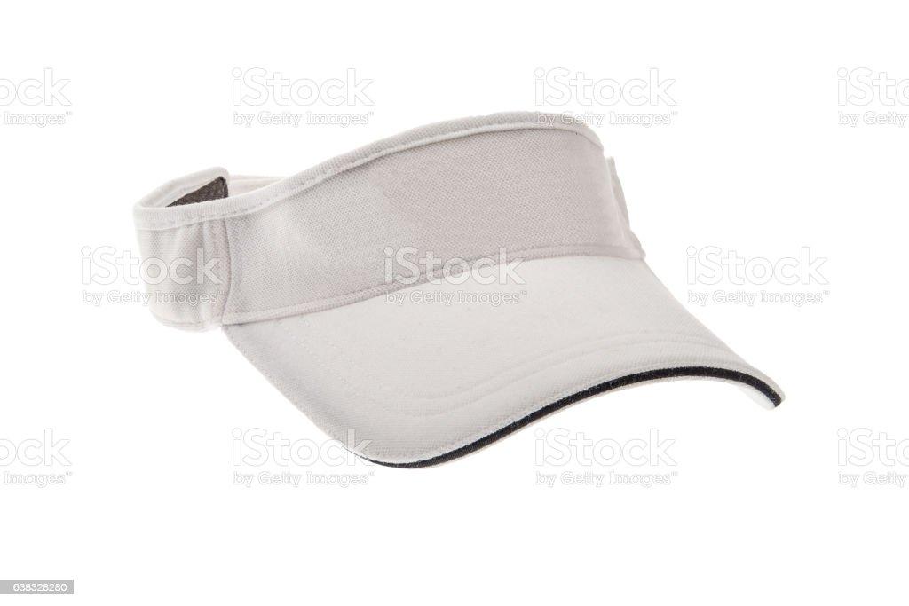 White golf visor for man or woman stock photo