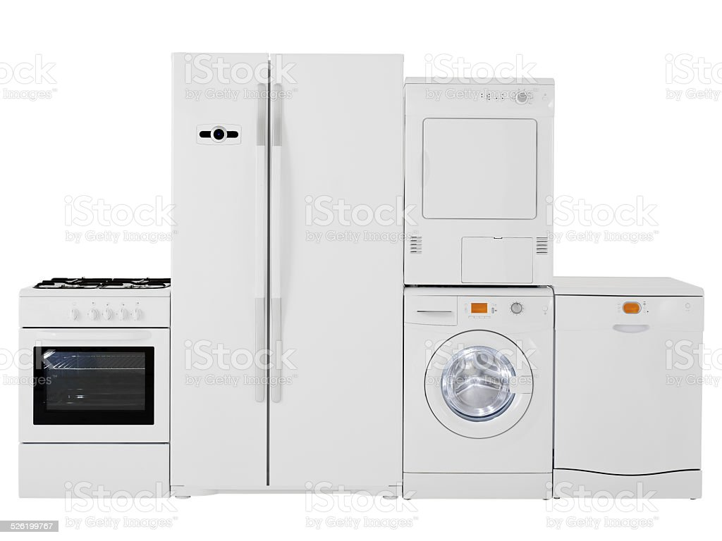 White goods family stock photo
