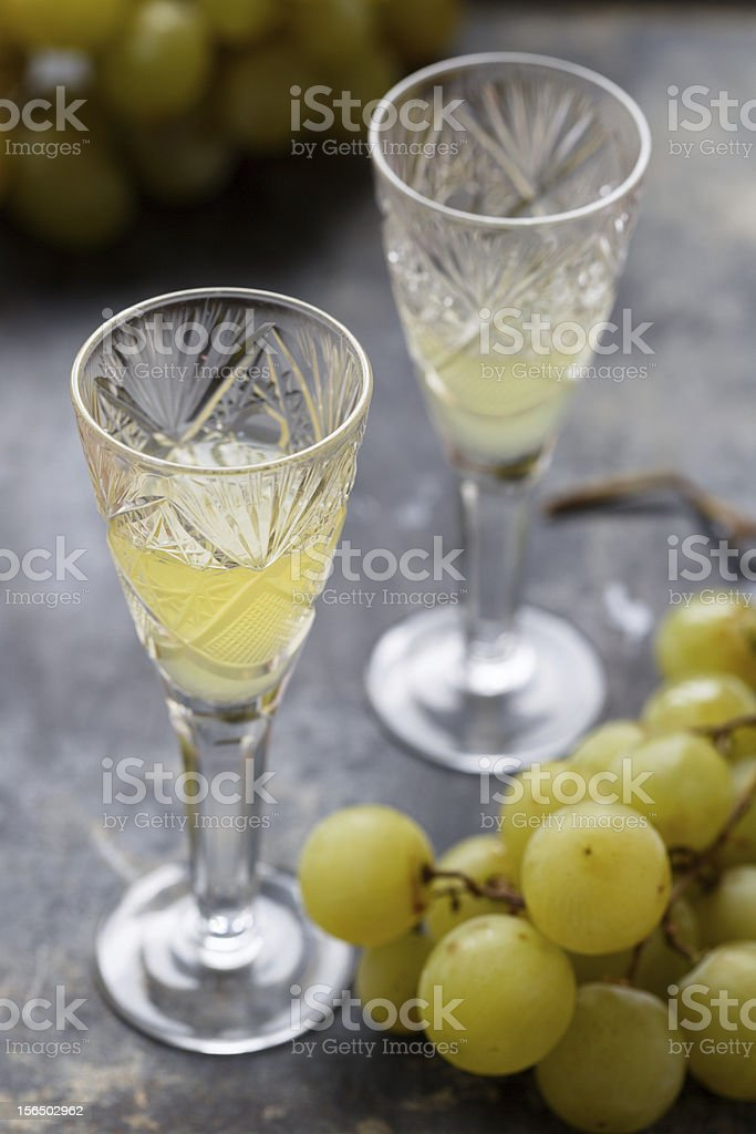 White grape alcohol drink royalty-free stock photo