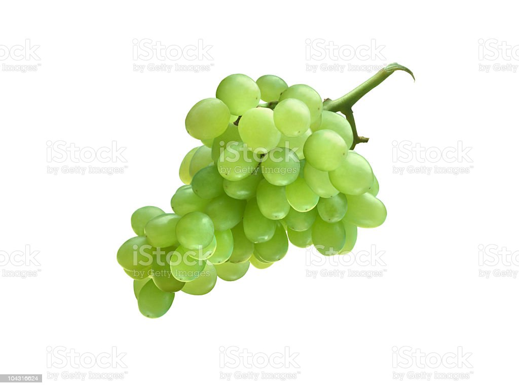 White grape cluster royalty-free stock photo