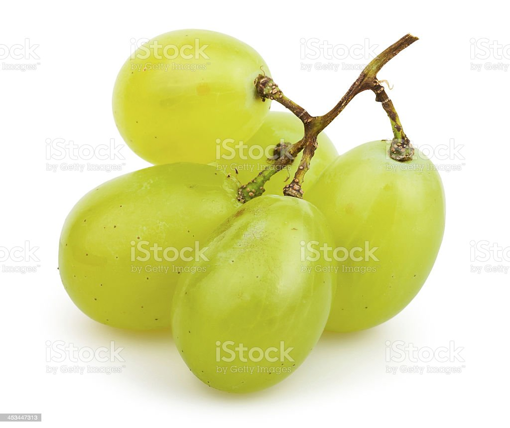 white grapes cluster small stock photo