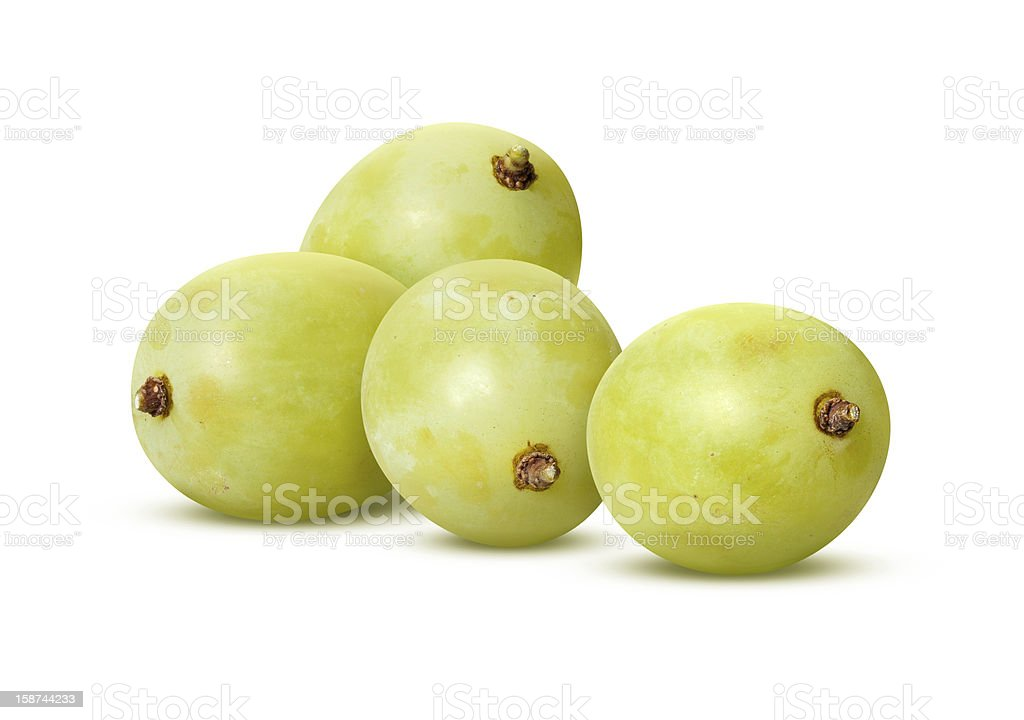White Grapes Isolated with clipping path stock photo