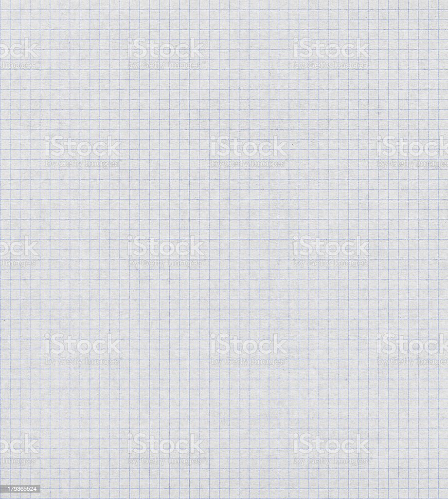 white graph paper with blue lines royalty-free stock photo