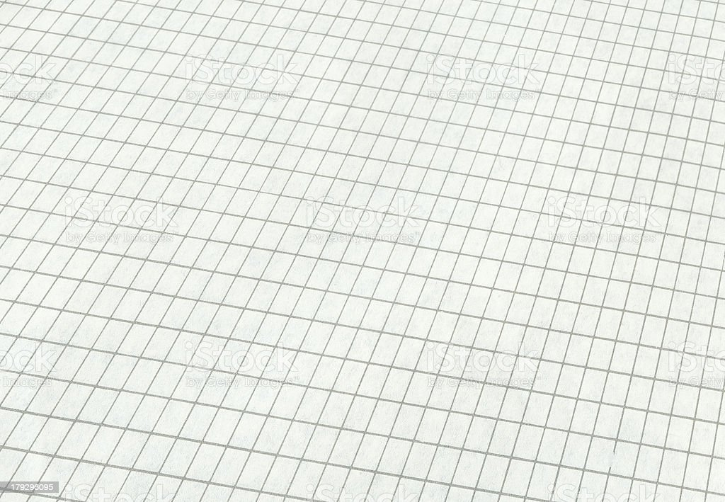 White graph paper with grey lines royalty-free stock photo