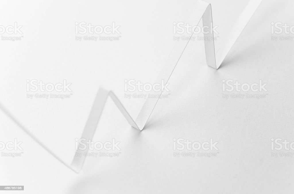 White Graph stock photo