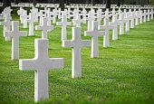White graveyard cross